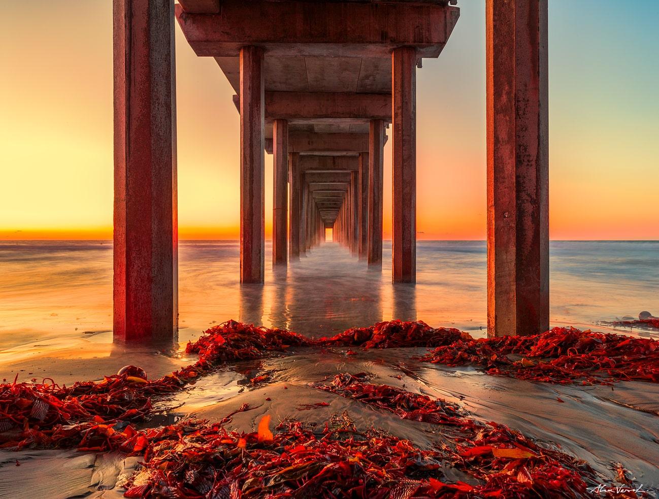 La Jolla Beach Luxury Photography, famous pier, Alexander Vershinin Fine Art, luxury photo