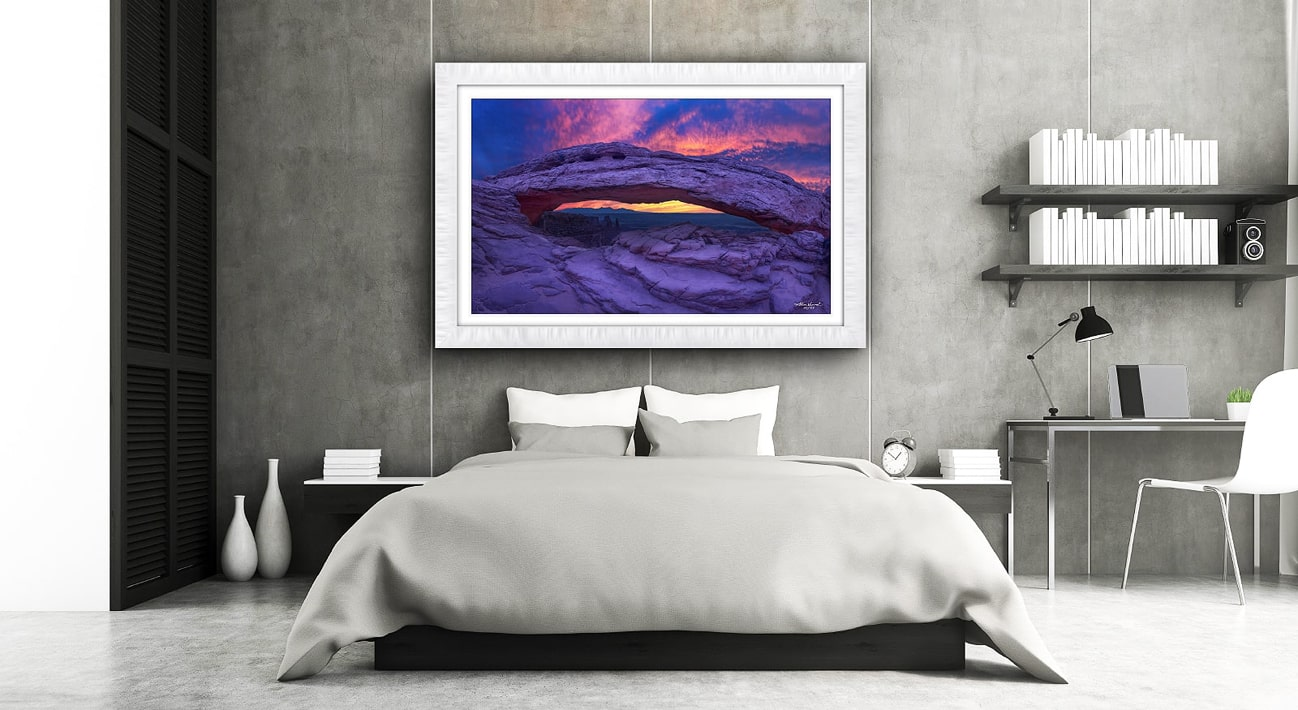 Mesa Arch Photo, Canyonlands National Park Photo, Lumachrome HD framed art, Utah Photography, Alexander Vershinin, luxury photo