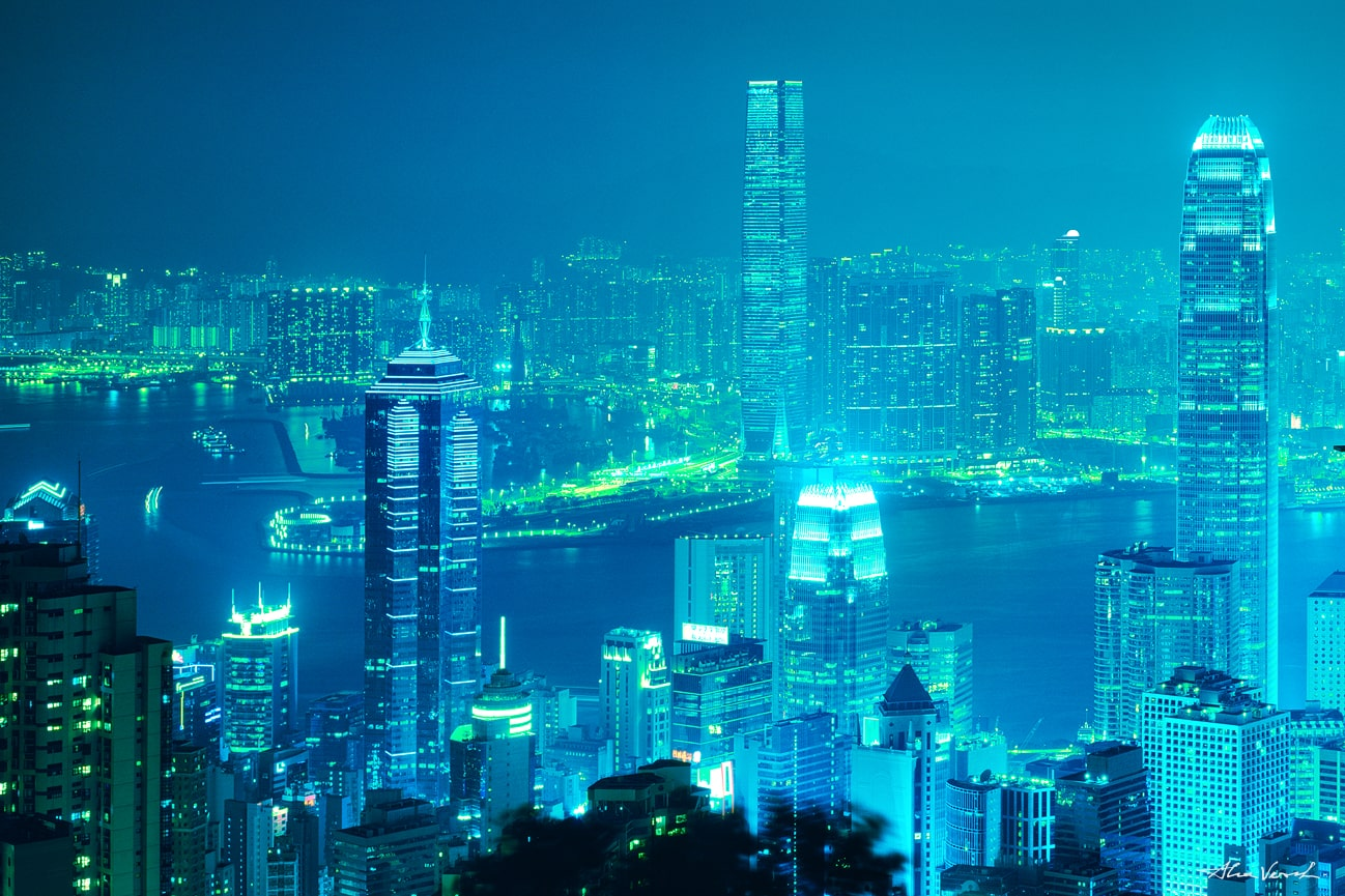 hong kong cityscape panoramic photo, Large Format Prints, Nature Landscape Photography, Limited Edition