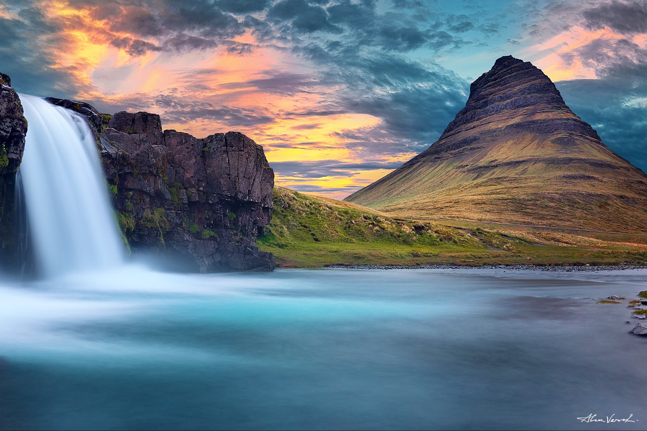 Iceland Luxury Fine Art, Large Format Prints, Panoramic Photos, Nature Landscape Photography, Limited Edition, Kirkjufell photo
