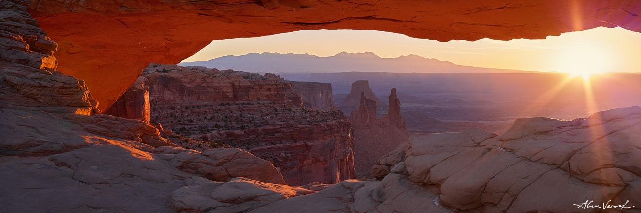 Mesa Arch Close view, Limited edition nature photo, Canyonlands National Park Photo, Alexander Vershinin, luxury fine art