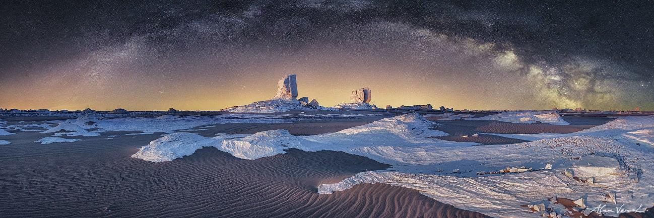 Molky way, desert, Sahara, White desert, Egypt, Alexander Vershinin photo