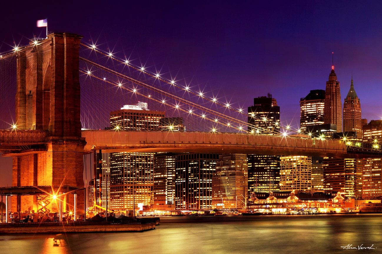 New York Night panoramic, Large Format Prints, Panoramic Prints, Cityscape Photography, Fine Art, Limited Edition
