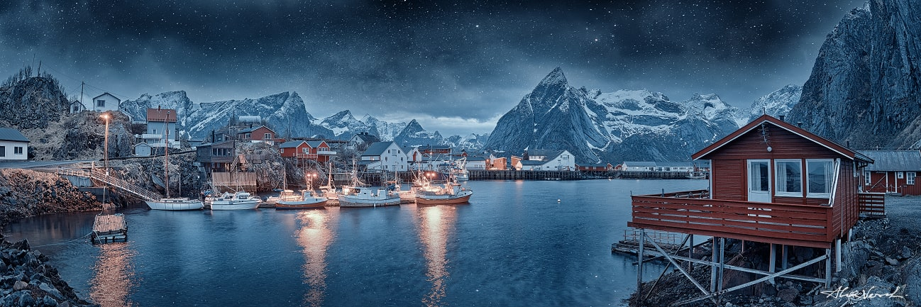 Lofoten Islands, fishermen village, Alexander Vershinin, Norway photo