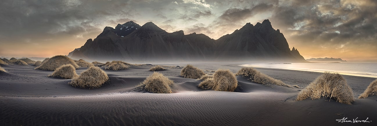 Iceland black sands, Vestrahorn, Alexander Vershinin, photo