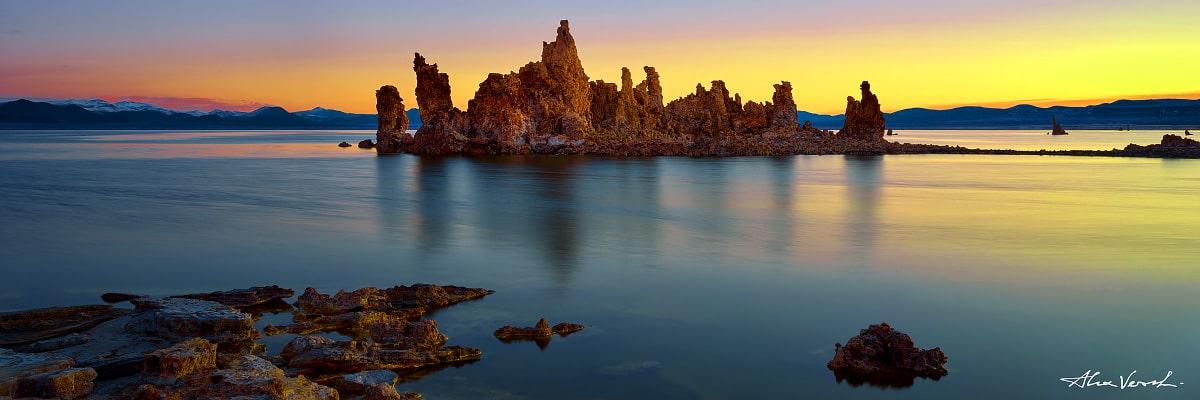 Limited edtion, California Photography, Fine Art, A Different Light, Alexander Vershinin, Mono lake, tufa, rocks reflection, photo