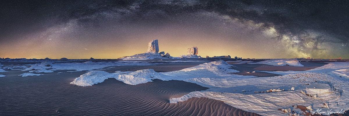 Sahara Landscape Photography, An Ancient Sea Remains, Alexander Vershinin, Sahara desert, Milky way stars, White Desert Egypt photo