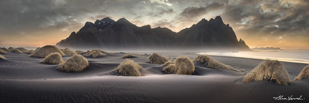 Limited edtion, Fine Art, Black Sands Opera, Alexander Vershinin, Stokksnes, Iceland, icelandic photography, sand dunes, Vestrahorn, photo