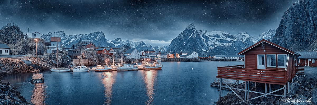 Lofoten Nature Photography, Cover of blizzard, Alexander Vershinin, Norway landscape photography, fishermen village, fjord, photo