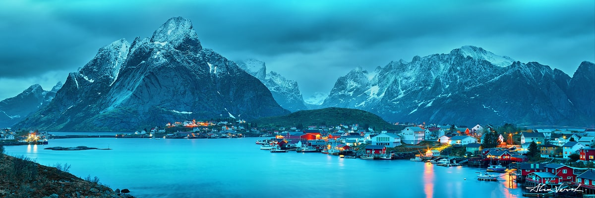 Lofoten Islands Photography, Engulfed In Eternal Frost, Alexander Vershinin, Norway, north village, fjord, Reine, photo