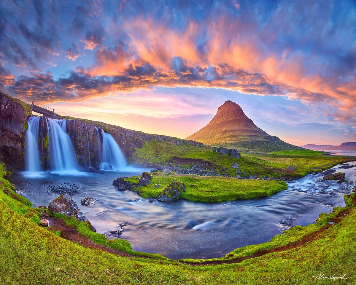 Alexander Vershinin, Limited edition, Fine Art, Icelandic Landscape Photography, fairy tale, kirkjufell waterfall photo