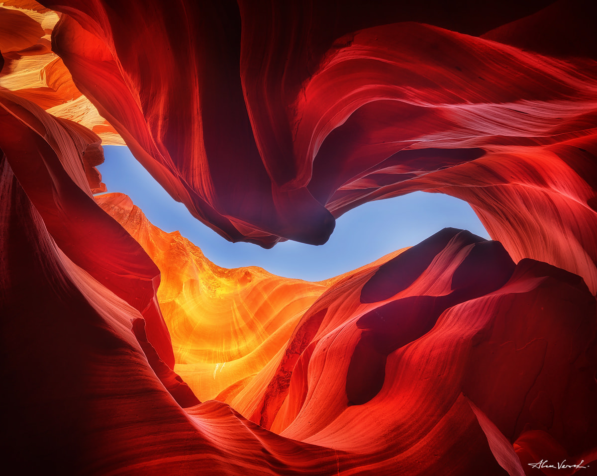 Alexander Vershinin, Limited edition, Fine Art, flamenco, antelope canyon, photo