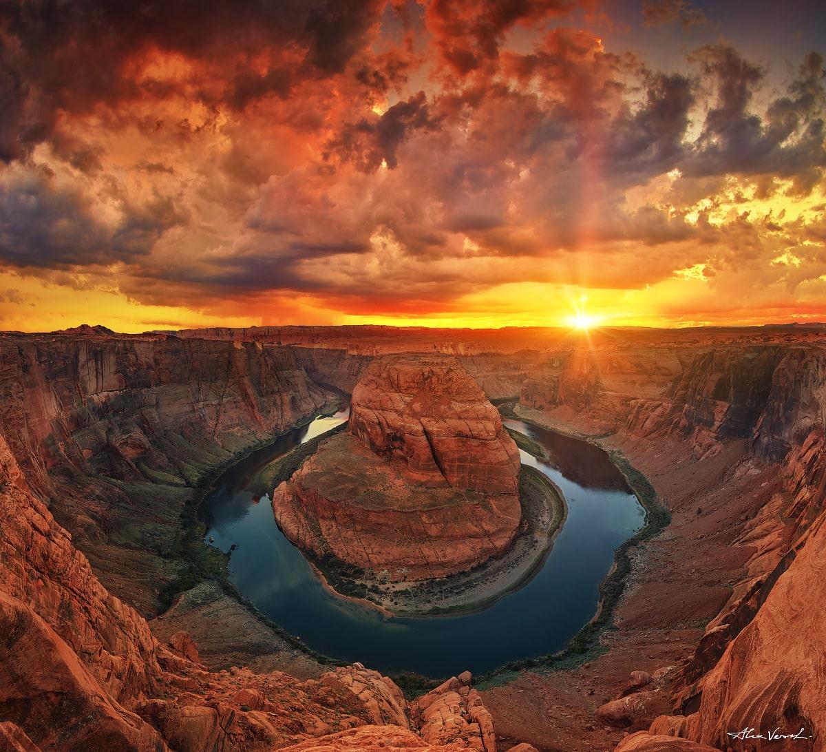 Horseshoe bend, colorado river, canyon, Arizona Photography, Alexander Vershinin, Limited edition, Fine Art, flying fire, photo