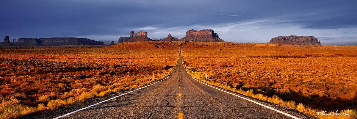 Limited edtion, Fine Art, Indian Summer, Utah Photography, Alexander Vershinin, monument valley, navajo land, road to horizon, photo