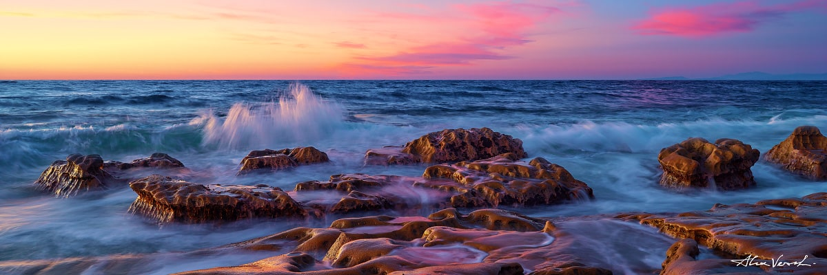 Limited edtion, Fine Art, Masquerade, Alexander Vershinin, californian landscape photography, rocks and waves, photo
