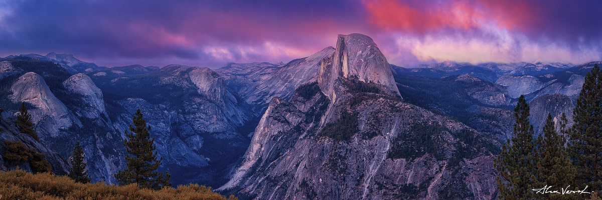 Limited edtion, Fine Art, California Photography, Nocturnal Lord, Alexander Vershinin, Yosemite, Half Dome, Sentinel mount, photo