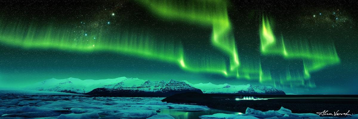 icelandic photography, Limited edtion, Fine Art, North Aurora, Alexander Vershinin, nothern lights, aurora borealis, iceland, north winter, photo