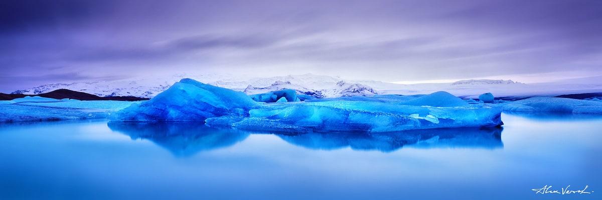 Limited edtion, Fine Art, Snow Queen Couch, Alexander Vershinin, Iceland landscape photography, Jokursarlon, iceberg, glacier, deep blue ice, photo
