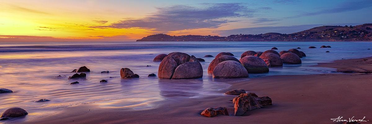 New Zealand Photography, Fine Art, Alexander Vershinin, Moeraki Boulders photo