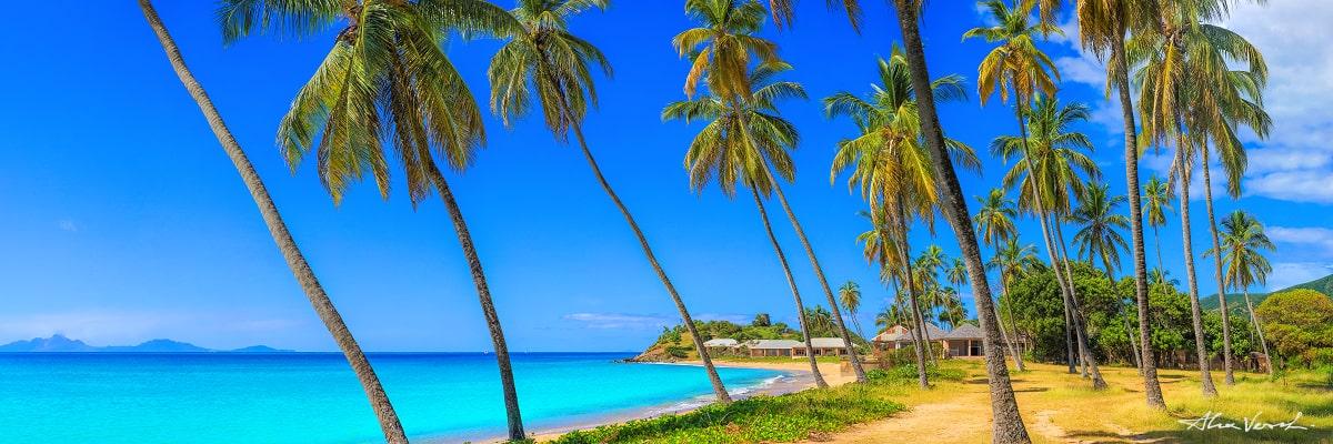Limited edtion, Carribean Photography Fine Art, The Mirth, Alexander Vershinin, palm beach, Antigua, carribean blue, paradise beach, photo