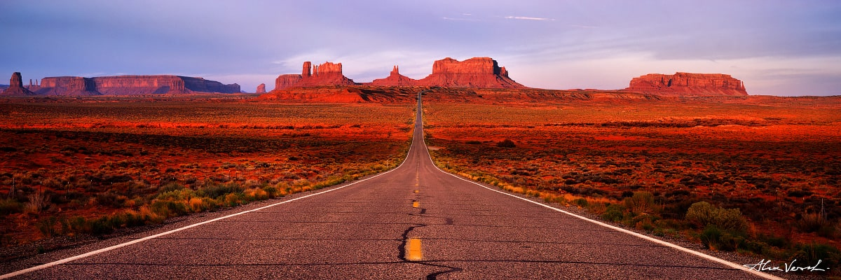 Limited edtion, Fine Art, Trail of Hope, Alexander Vershinin, Utah Landscape Photography, road to horizon, navajo park, monument valley, photo