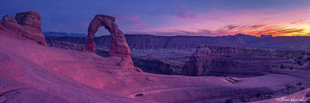 Limited edtion, Fine Art, Twilight, Alexander Vershinin, Utah Nature Photography, Delicate arch photo print, Arches park photo